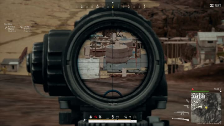 This PUBG player hit a snipe from over 500 meters away.