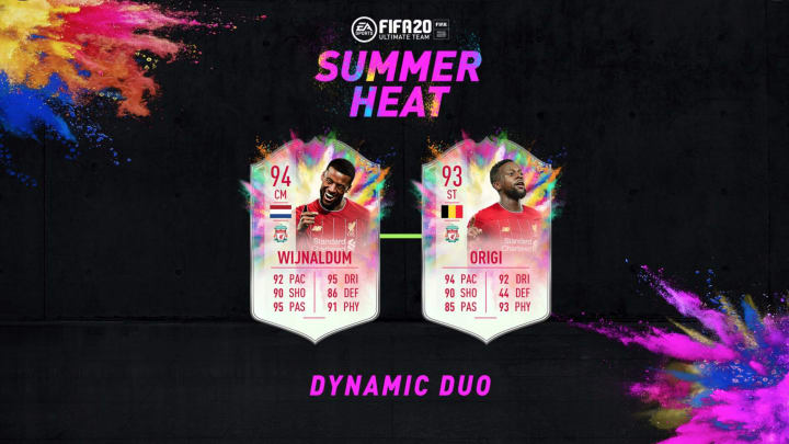 Divock Origi FIFA 20 Summer Heat Dynamic Duo SBC is now available to be completed.