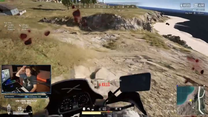 WackyJacky101 pulled off an incredibly improbable kill in a recent PUBG stream.