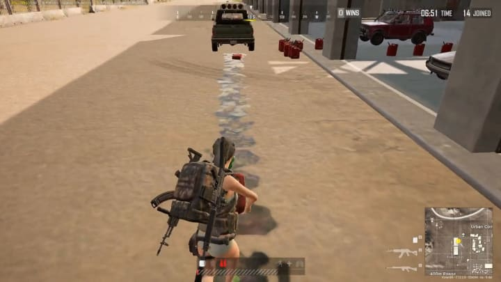 This PUBG player put the new gas cans through their paces.