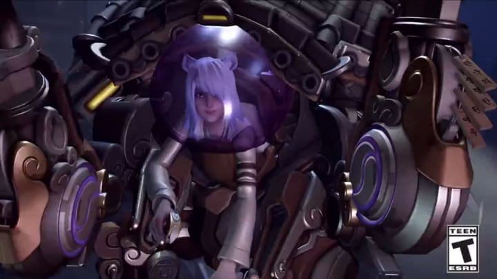 An Overwatch Kumiho skin for D.Va appeared in a teaser for Halloween Terror 2020.