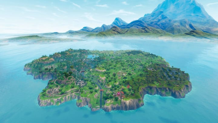 Fortnite 12.50 update brought new posters to No Sweat Insurance building at Lazy Lake, and them seem to tease what's to come in Season 3.