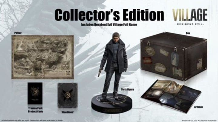 Everything included inside Resident Evil Village Collector's Edition