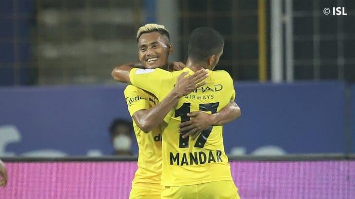 Bipin Singh scored Mumbai's second goal against Bengaluru