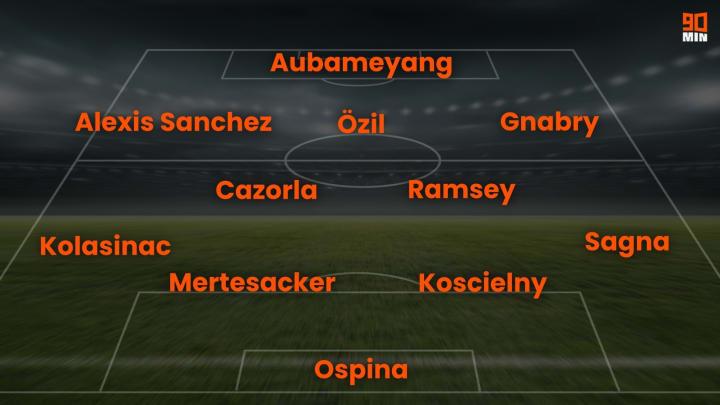 So siehts Özils Gunners-Dream-Team aus