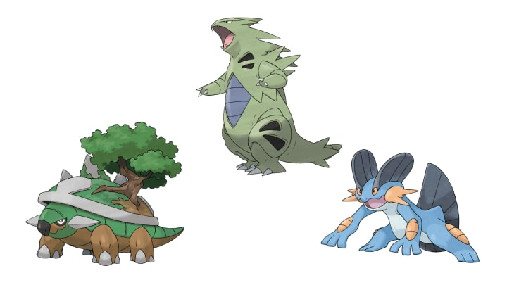 The third slot has Torterra, Tyranitar and Swampert.