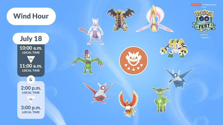 Pokemon GO Fest Wind Hour Raid Bosses