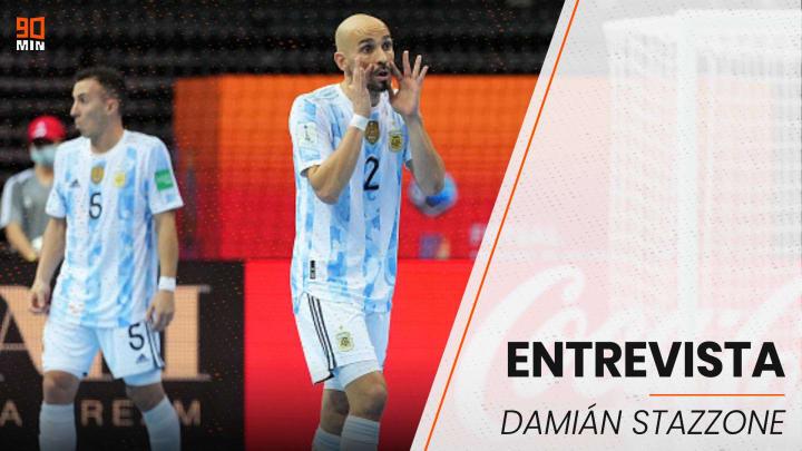 Damián Stazzone, figura de la selección argentina de futsal