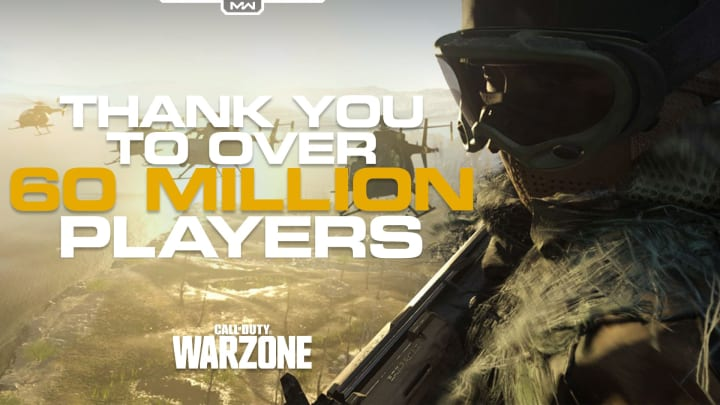 Warzone hit 60 million players on May 5.