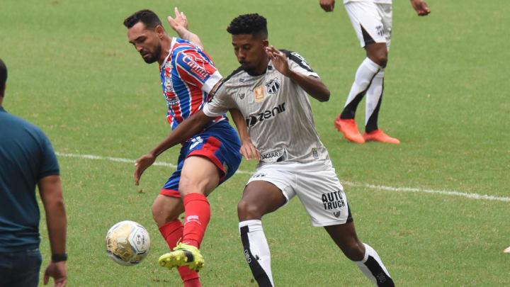 Gilberto anotou um dos gols da vitória do Bahia sobre o Ceará