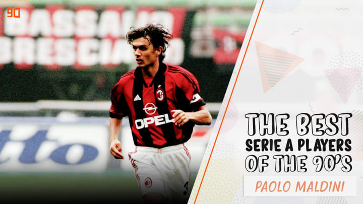 Maldini is one of the game's most highly regarded defenders