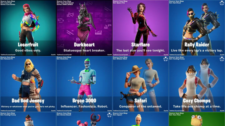 Fortnite Update 12.30 included several unreleased skins in its files.