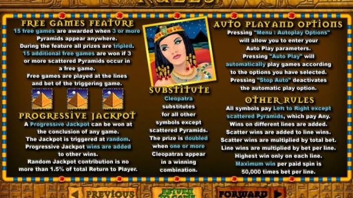 Cleopatra gold rtp em