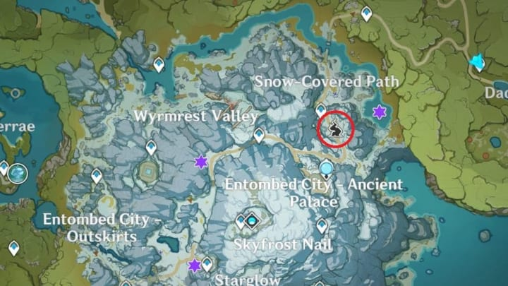 Location of the Frostbearing Tree