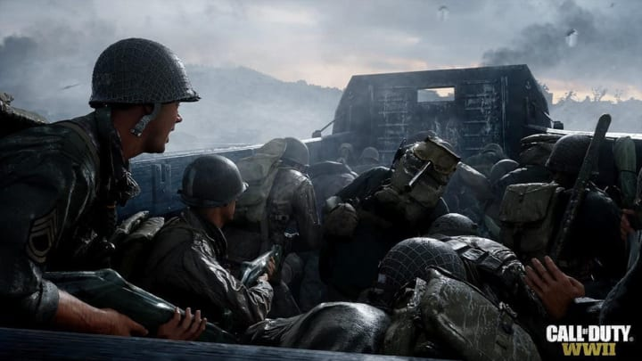 Call of Duty: WWII, a shot from the campaign. No footage of Vanguard yet, but knowing the setting gives us a good idea of what it may look like