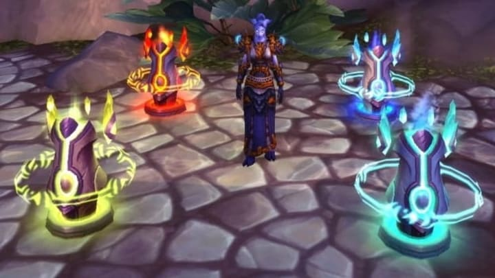 World of Warcraft The Burning Crusade Classic Shaman class with their totems out