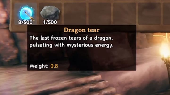 The description of what a dragon tear is in-game according to ConCon on YouTube.