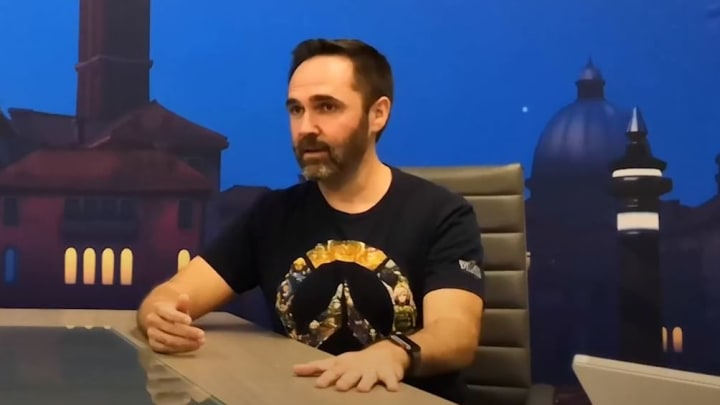 Aaron Keller in 2018 when he was an Assistant Game Director. He spoke with Gamespot's Tamoor Hussain on subjects related to Overwatch franchise.