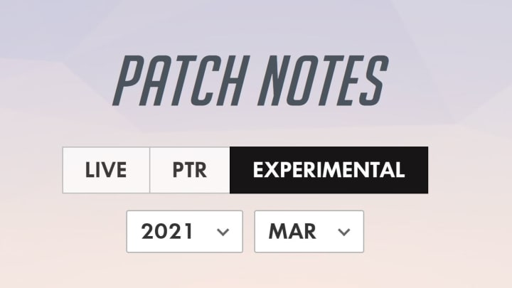 New patch notes have been released on the Experimental.