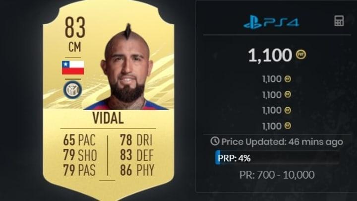 Arturo Vidal est abordable en début de partie.