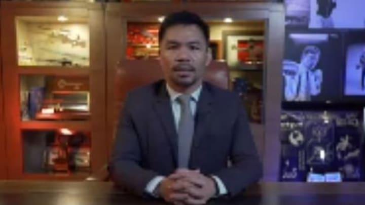 Manny Pacquiao envió un mensaje de esperanza a Filipinas