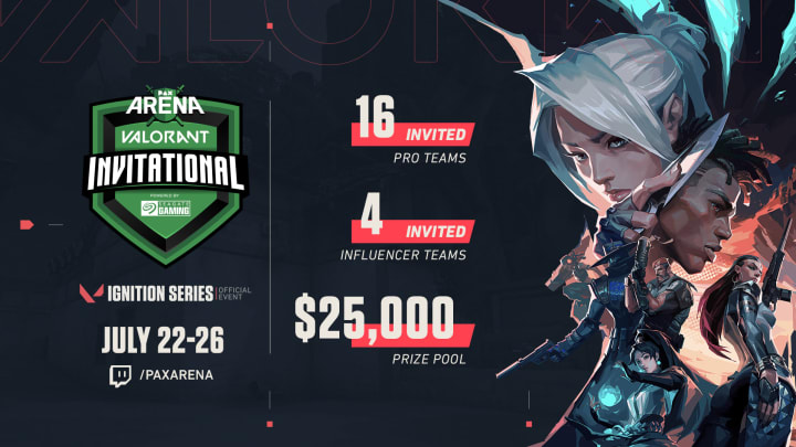 PAX Arena's Valorant Invitational will pit 16 pro teams against four influencer teams.
