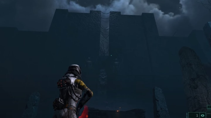 PlayStation's footage of Returnal showing Atropos.