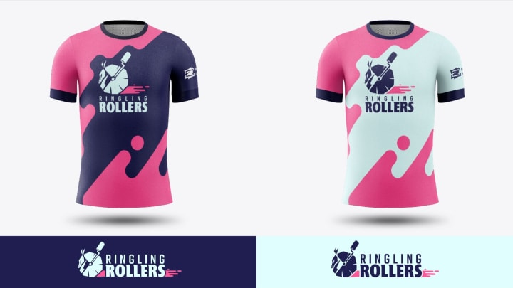 "The jerseys and shirts were designed by Konrad ""Muffincannon"" Losiak, who is also a Graphic Design senior in Ringling College of Art and Design."