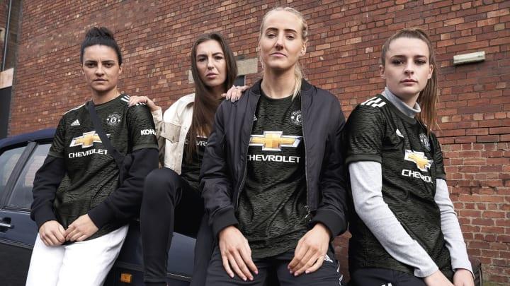 (L-R) Sigsworth, Zelem, Turner & Toone will wear it for Man Utd Women