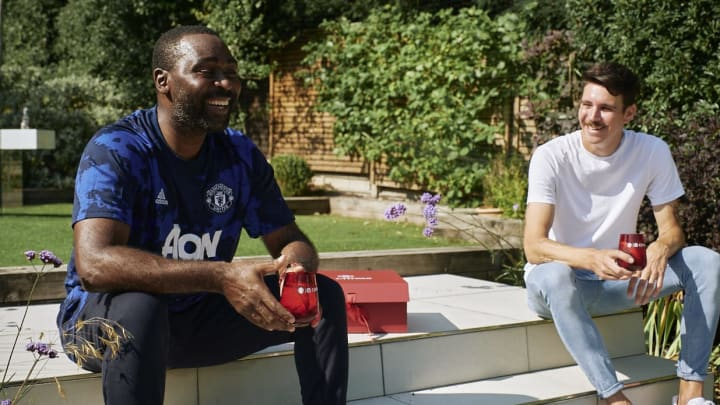 Andy Cole enjoying a socially distanced treat