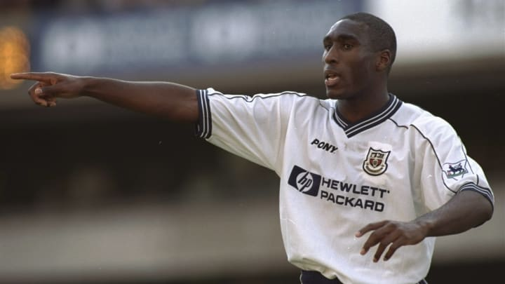 Sol Campbell with Tottenham in 1997