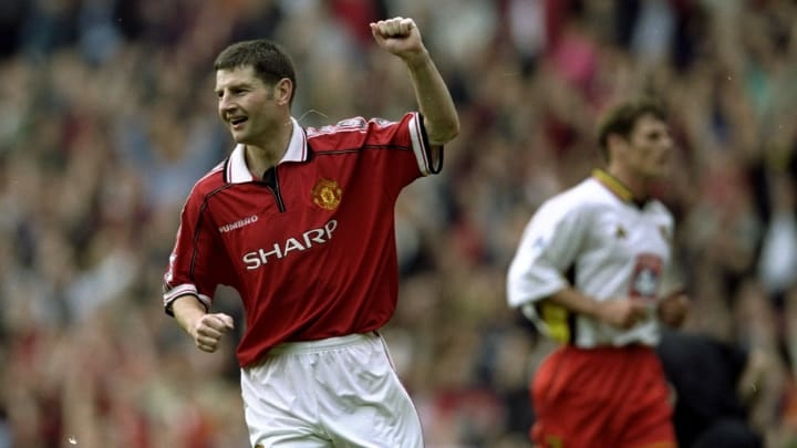 Denis Irwin with Manchester United in 1999