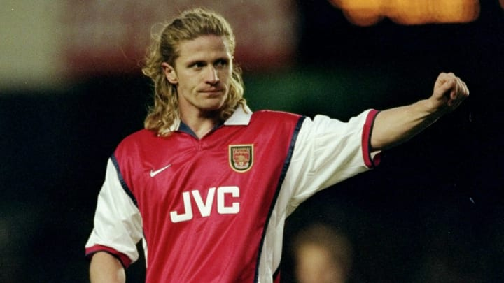 Emmanuel Petit with Arsenal in 1998