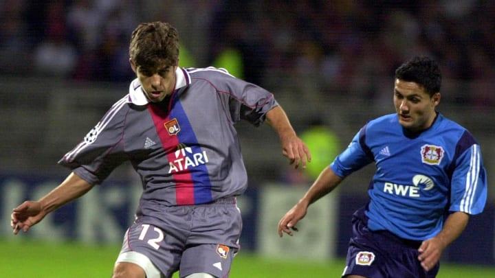 Juninho in action for Lyon in 2001