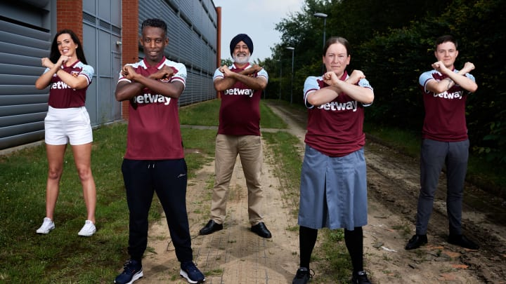 Local NHS and community workers model West Ham's new shirt