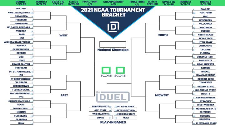 2021 NCAA Tournament Printable Bracket.