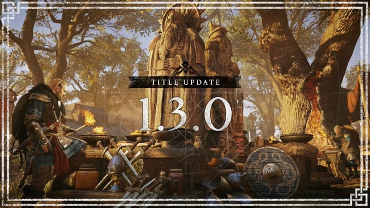 Ubisoft has released the next title update for its most recent Assassin's Creed game, Valhalla—Title Update 1.3.0.