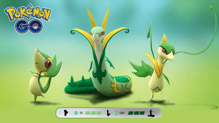 Snivy, the Grass Snake Pokemon, evolves into Servine and Serperior