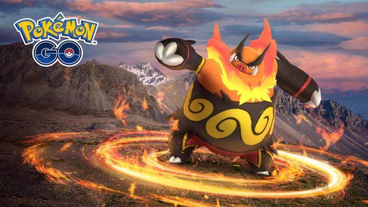 Tepig evolves into Emboar, the Mega Fire Pig Pokemon