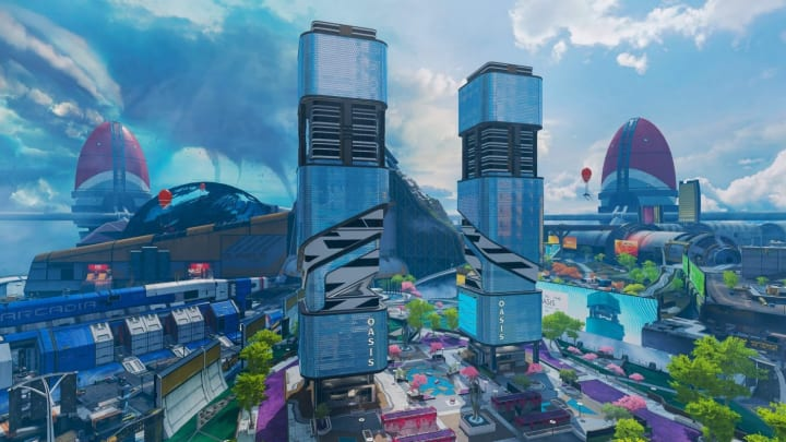 In Arenas, Olympus' Oasis is one of three new BR locations that will replace the ones from Apex Legends: Legacy with the Emergence update.