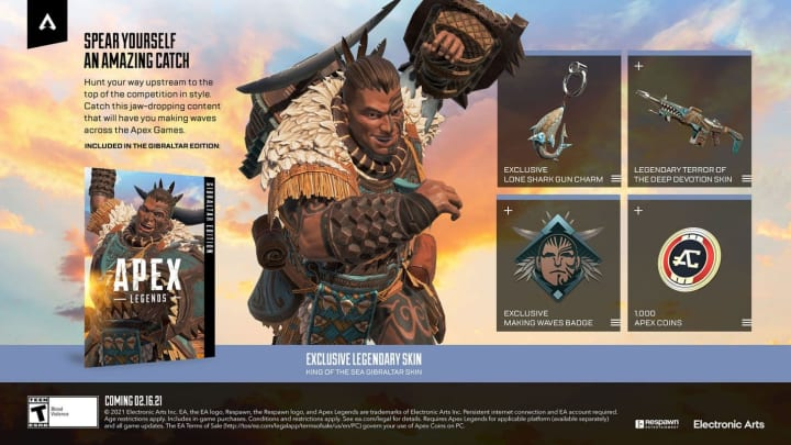 A list of all of the cool things you can get via the Gibraltar Edition for Apex Legends.