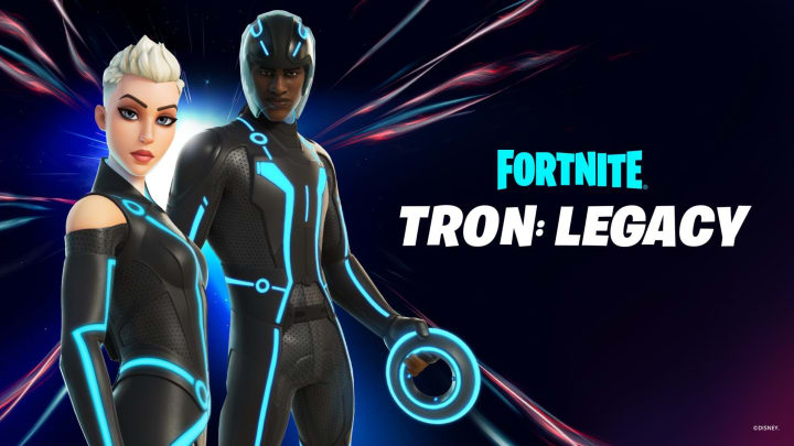 The Tron Fortnite Skin is now purchasable in store for all Fortnite players who want to gear up as grid warriors.