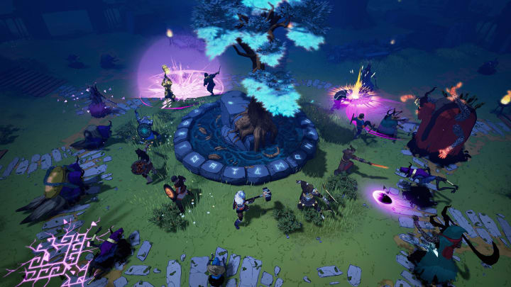 Tribes of Midgard, Norsfell's brand-new 1-10 player co-op action survival RPG, launched on July 27, 2021.