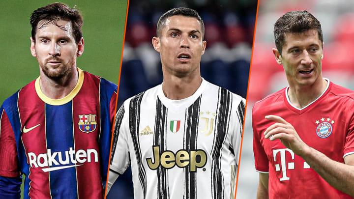 Lionel, Messi, Cristiano Ronaldo et Robert Lewandowski dominent encore une fois ce classement.