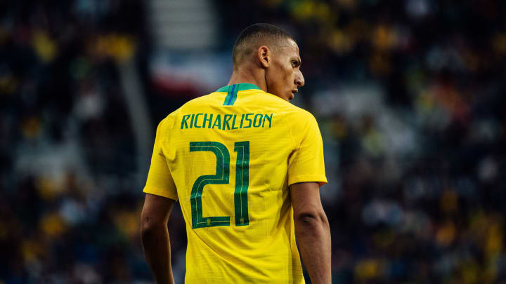 Richarlison, Brazilian professional footballer who plays as a forward for Premier League club Everton and the Brazilian national team.
