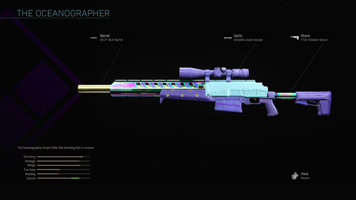 The Oceanographer Blueprint has been around for quite some time in Warzone.