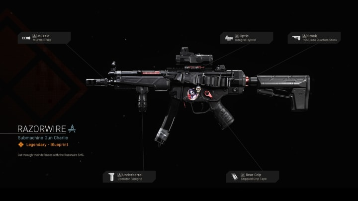 Plano de Razorwire para el MP5