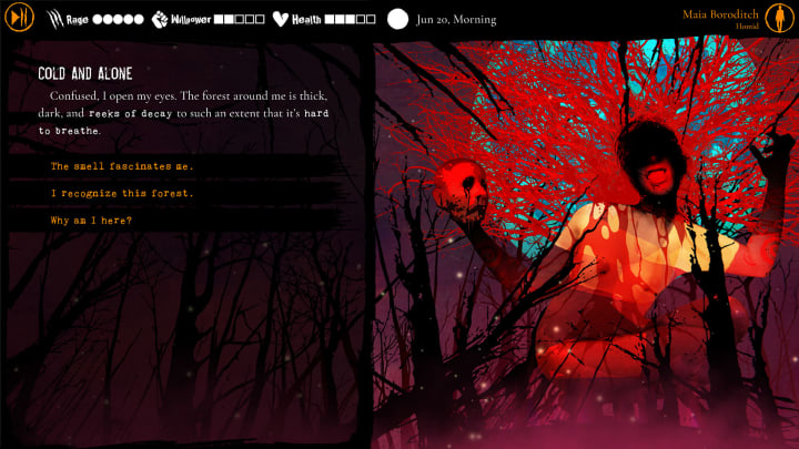 Heart of the Forest's art style is distinct, painterly, and utterly horrifying.