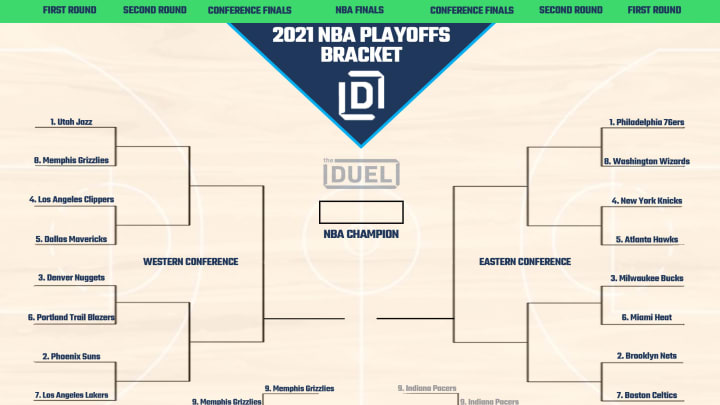 Printable 2021 NBA Playoff bracket updated following Play-In Tournament.
