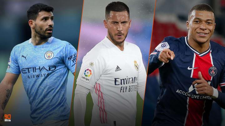 Aguero, Hazard et Mbappé font l'actu mercato de ce lundi